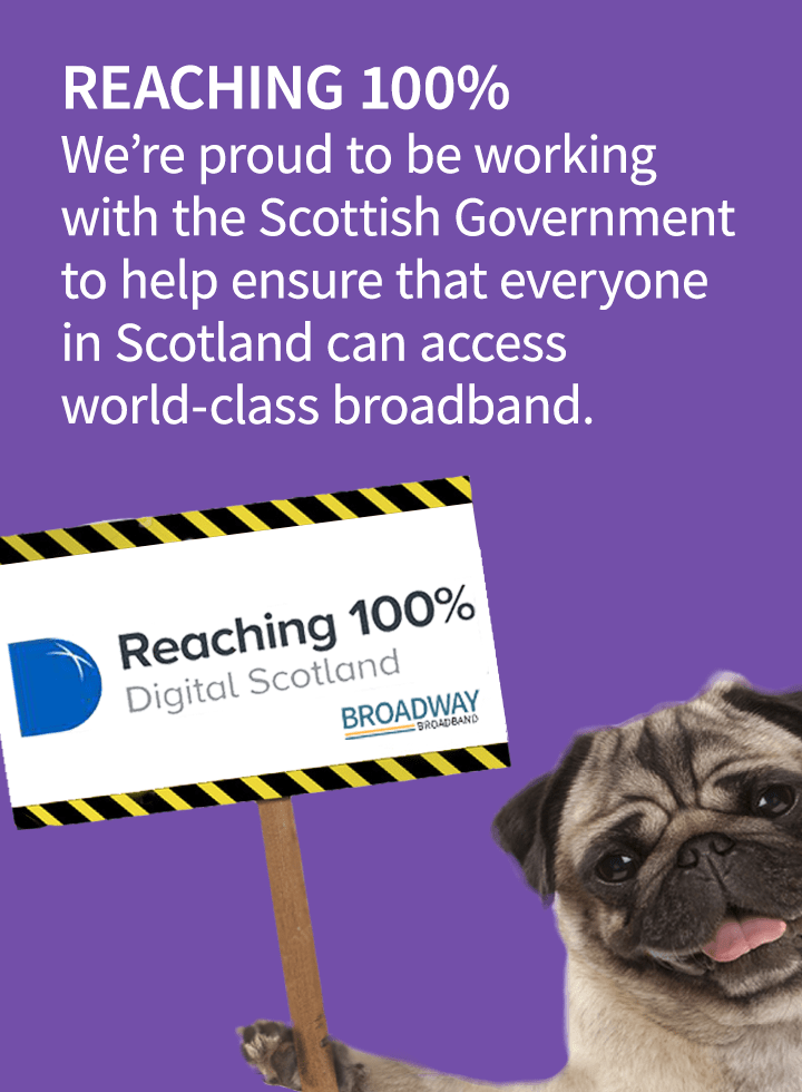 100% broadband coverage (tablet)